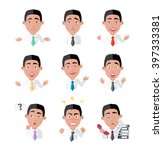 emotion and avatar. variety of... | Shutterstock . vector #397333381