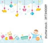 baby icons and objects... | Shutterstock .eps vector #397340089
