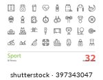 set of outline sport and... | Shutterstock .eps vector #397343047
