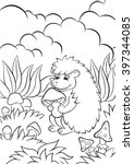 coloring pages. little cute... | Shutterstock .eps vector #397344085