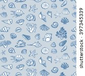 shell sea life vector pattern | Shutterstock .eps vector #397345339