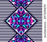 vector tribal seamless pattern... | Shutterstock .eps vector #397349695