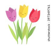 Cute Funny Tulips Characters....