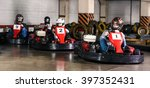 group of people is driving go... | Shutterstock . vector #397352431