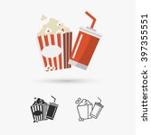 popcorn and drink icon | Shutterstock .eps vector #397355551