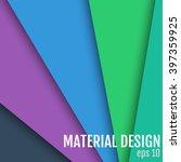 material design vector... | Shutterstock .eps vector #397359925