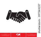 handshake icon    Shutterstock .eps vector #397363237