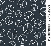 seamless pattern with  hand... | Shutterstock .eps vector #397365001