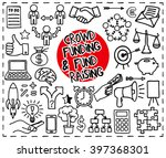 crowd funding and fond raising... | Shutterstock .eps vector #397368301