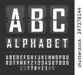 vector scoreboard letters and... | Shutterstock .eps vector #397378144