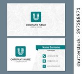 business card or visiting card... | Shutterstock .eps vector #397388971