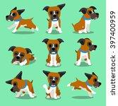 cartoon character boxer dog... | Shutterstock .eps vector #397400959