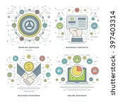 flat line banking services ... | Shutterstock .eps vector #397403314