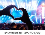 audience at live music concert... | Shutterstock . vector #397404709