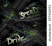 abstract seamless grunge... | Shutterstock .eps vector #397410451