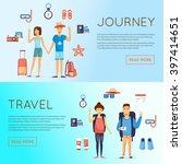 world travel  summer vacation ... | Shutterstock .eps vector #397414651