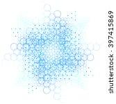 sacred geometry mandala. cosmic ... | Shutterstock .eps vector #397415869