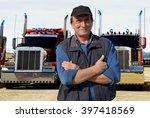 truck driver | Shutterstock . vector #397418569