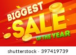 big sale banner. sale and... | Shutterstock .eps vector #397419739