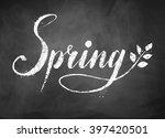 spring word grunge hand drawn... | Shutterstock .eps vector #397420501