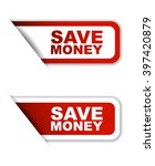 Постер, плакат: save money red vector