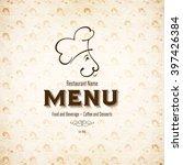 restaurant menu design. vector... | Shutterstock .eps vector #397426384