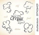 chef hat labels set for... | Shutterstock .eps vector #397426429