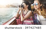 girls photography traveling... | Shutterstock . vector #397427485