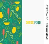 vector eco food design template ... | Shutterstock .eps vector #397428319