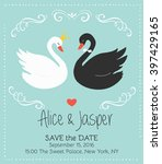vintage wedding invitation with ... | Shutterstock .eps vector #397429165