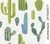 Vector Cactus Background....