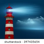 realistic lighthouse  in the... | Shutterstock .eps vector #397435654
