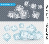 set of four transparent ice... | Shutterstock .eps vector #397435759