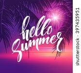 hello summer  background.... | Shutterstock .eps vector #397435951