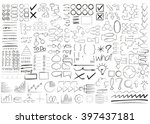 hand drawn and doodle elements  ... | Shutterstock .eps vector #397437181