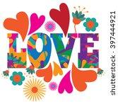 sixties style mod pop art... | Shutterstock .eps vector #397444921