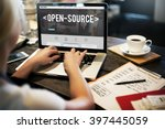 Stock photo open source developer program software user concept 397445059