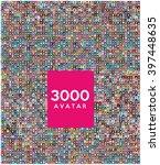 set of 3000 color diferent... | Shutterstock .eps vector #397448635