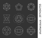 sacred geometry shapes.... | Shutterstock . vector #397454755
