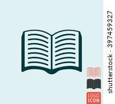 book icon. open paper book icon ...