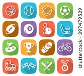 flat sport trendy icons with... | Shutterstock .eps vector #397479529