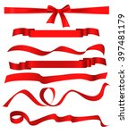 red ribbon patterns set... | Shutterstock .eps vector #397481179