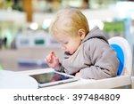 adorable blonde toddler boy...   Shutterstock . vector #397484809