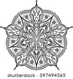abstract vector black lace
