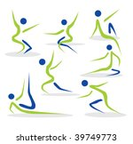 editable people silhouettes | Shutterstock .eps vector #39749773