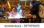 Welding Work In Cars Factory ...