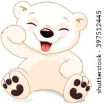 illustration of cute polar bear ... | Shutterstock .eps vector #397512445