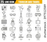 thin line icons set of tourism... | Shutterstock .eps vector #397512589