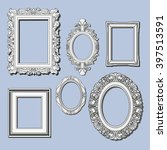 set of hand drawn frames | Shutterstock .eps vector #397513591