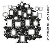 black and white family tree | Shutterstock .eps vector #397513594